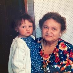 My grandmother and my daughter. April 1995.