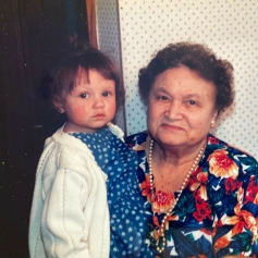 My grandmother and my daughter. April 1995.